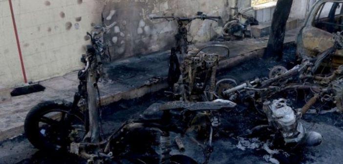Μικρής έκτασης φωτιά ξέσπασε στην πόλη της Λευκάδας