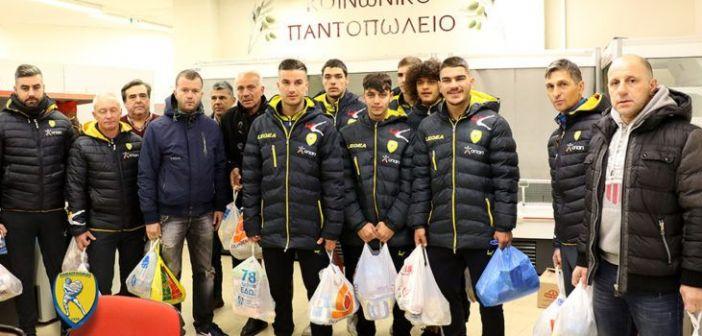 Παναιτωλικός: Προσέφερε τρόφιμα στο Κοινωνικό Παντοπωλείο (ΔΕΙΤΕ ΦΩΤΟ)
