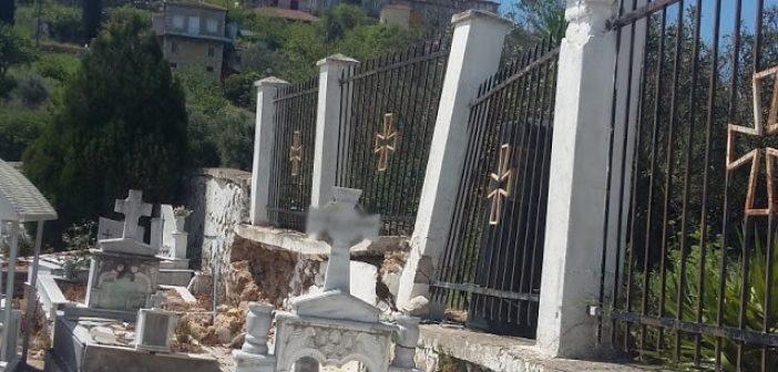 Ξηρόμερο: Άνοιξε η γη στο κοιμητήριο της Κατούνας!