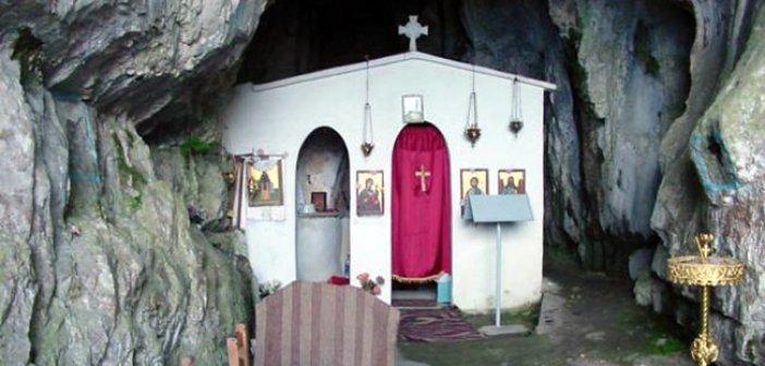 Ιερό προσκύνημα στο σπήλαιο του Αγίου Ανδρέα του Ερημίτη