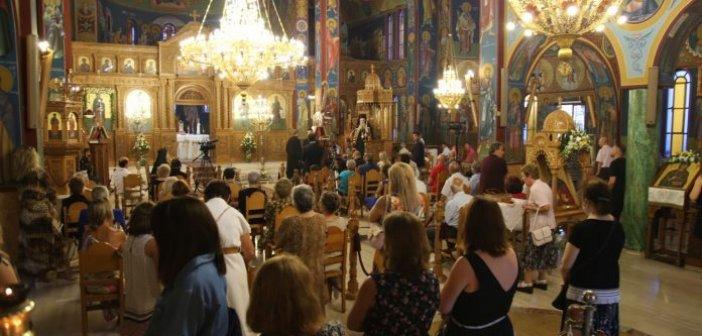 Aγία Παρασκευή Ναυπάκτου: Ζωντανά η πανηγυρική Αρχιερατική Θεία Λειτουργία (VIDEO)