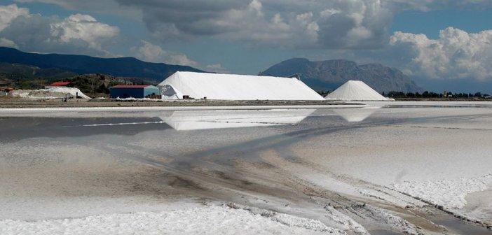 """Εικόνες από την """"κρυστάλλινη πολιτεία"""" στις Αλυκές Μεσολογγίου (ΦΩΤΟ + VIDEO)"""