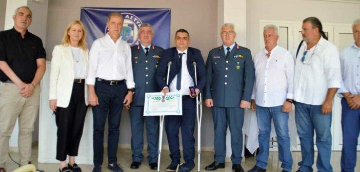 Πάτρα: Το μετάλλιο «Αστυνομικός Σταυρός» στον Ανθυπαστυνόμο Γεώργιο Παπαχριστόπουλο (ΦΩΤΟ)