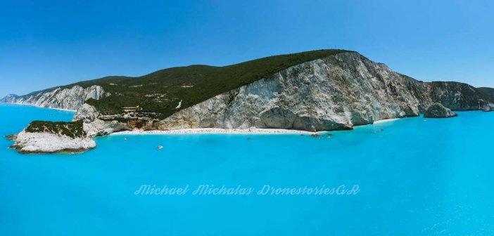 Λευκάδα: Πανέμορφη πανοραμική φωτογραφία από το Πόρτο Κατσίκι