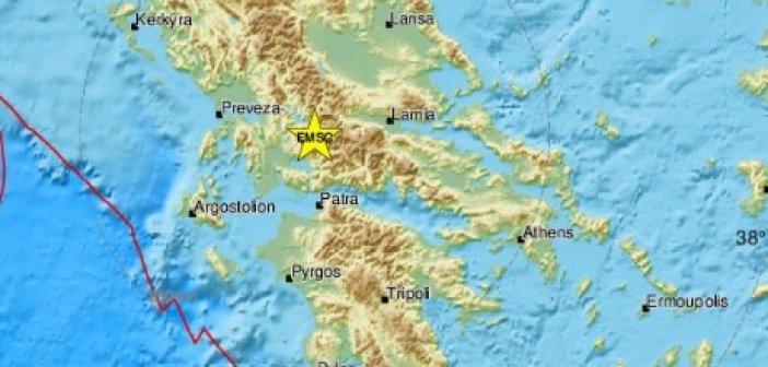 Σεισμός στην Ευρυτανία αισθητός και στην Αιτωλοακαρνανία