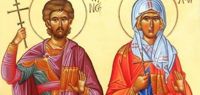 Στις 26 Αυγούστου εορτάζουν οι Άγιοι: Ανδριανός και Ναταλία
