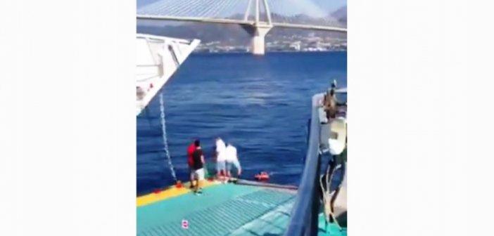 Τι λέει ο καπετάνιος του ferry boat που περισυνέλεξε άνδρα στο Ρίο – Αντίρριο