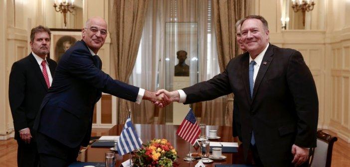 Έκτακτη συνάντηση Δένδια – Πομπέο με… φόντο τις τουρκικές προκλήσεις