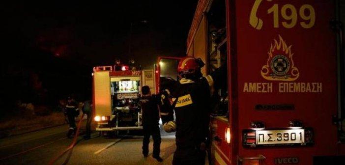 Ναυπακτία: Ολονύχτια μάχη με τις φλόγες στο Παραδείσι (VIDEO)