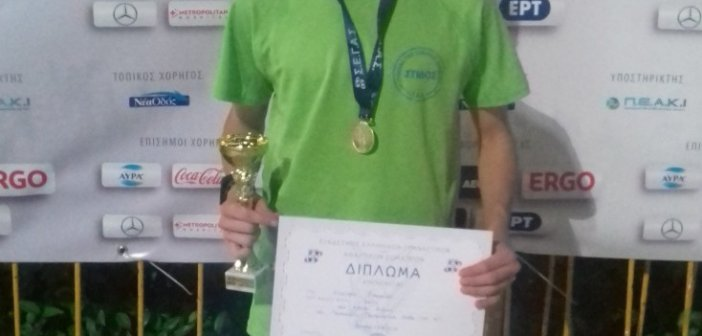 Πρωταθλητής στο Πανελλήνιο Πρωτάθλημα Στίβου ο Αγρινιώτης Νίκος Σταμούλης