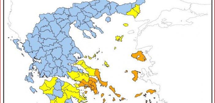 Υψηλός ο κίνδυνος πυρκαγιάς στη Δυτική Ελλάδα αύριο Σάββατο