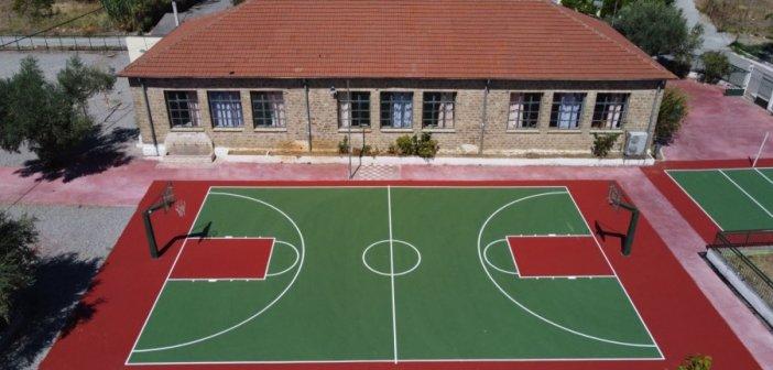 2ο Δημοτικό σχολείο Παναιτωλίου… Ολοκληρώθηκε η ανάπλαση του προαυλίου χώρου