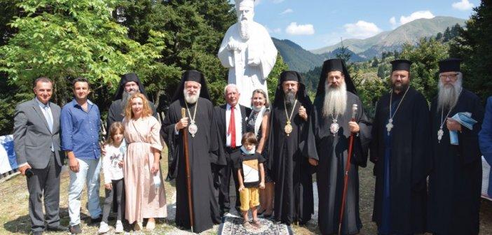 Τελετή αποκαλυπτηρίων αγάλματος του Αγίου Κοσμά του Αιτωλού