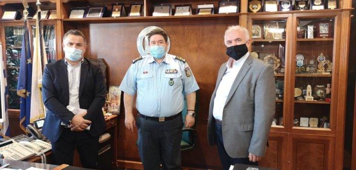 Μεσολόγγι: Με τον Αρχηγό της ΕΛ.ΑΣ. συναντήθηκε χτες ο Δήμαρχος Κώστας Λύρος