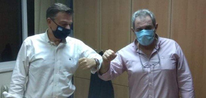 Ο Θάνος Μωραϊτης στο Εργατικό Κέντρο Μεσολογγίου (ΦΩΤΟ)