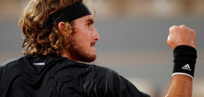 """""""Τυφώνας"""" Τσιτσιπάς – Διέλυσε Ντιμιτρόφ και προκρίθηκε στους """"8"""" του Roland Garros"""