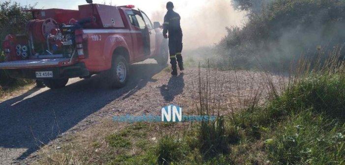 Μακύνεια: Πυρκαγιά μικρής έκτασης (ΦΩΤΟ)