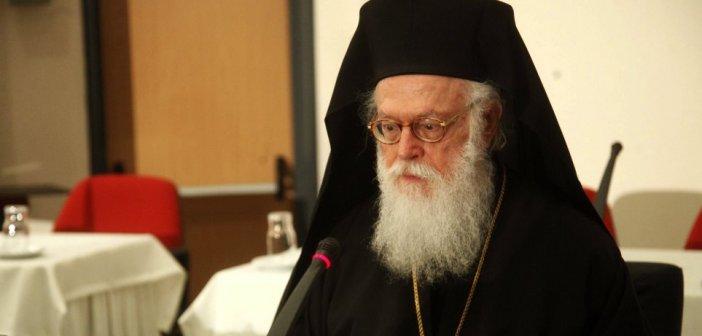 Αρχιεπίσκοπος Αναστάσιος: «Μη φοβού, μόνο πίστευε» το μήνυμά του από τη ΜΕΘ του «Ευαγγελισμού»