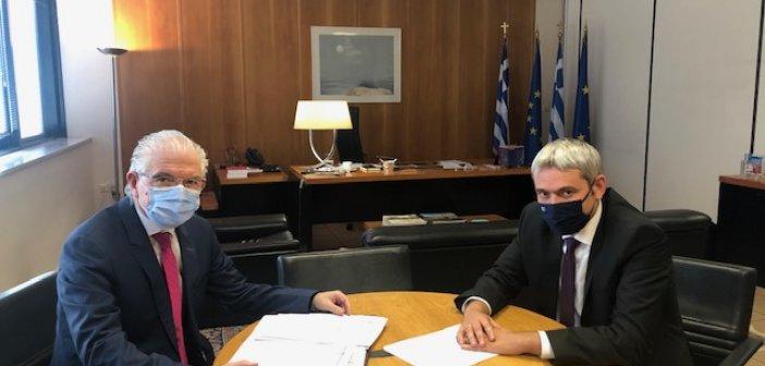 Συνάντηση Κ. Καραγκούνη με τον Διοικητή του ΕΛΓΑ (ΦΩΤΟ)