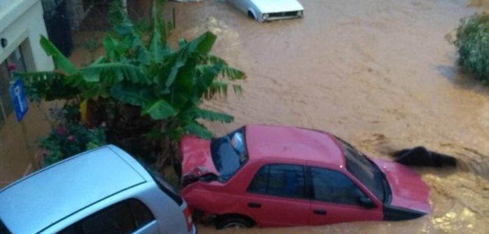 Κακοκαιρία στην Κρήτη: Απεγκλωβίστηκαν τρία παιδιά – Η έντονη βροχή δυσκολεύει μέχρι και τους διασώστες!