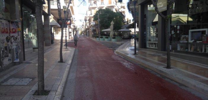 Έρημη πόλη το Αγρίνιο την πρώτη μέρα του lockdown (ΔΕΙΤΕ ΦΩΤΟ)