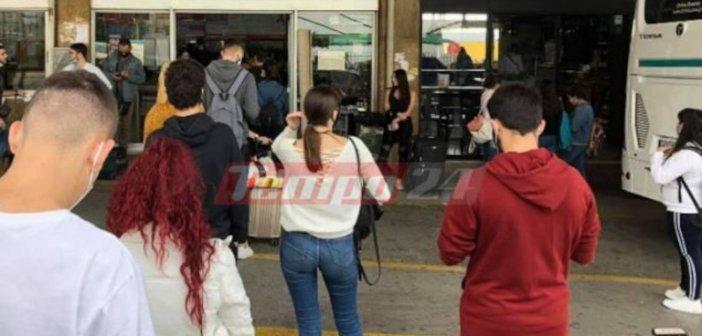 Δυτική Ελλάδα: Ουρές στα ΚΤΕΛ -Φοιτητές φεύγουν για να προλάβουν το lockdown(ΦΩΤΟ)