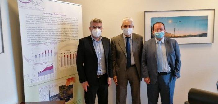 Συνάντηση Φωκίωνα Ζαΐμη με τον πρόεδρο της Ρυθμιστικής Αρχής Ενέργειας για το Φυσικό Αέριο