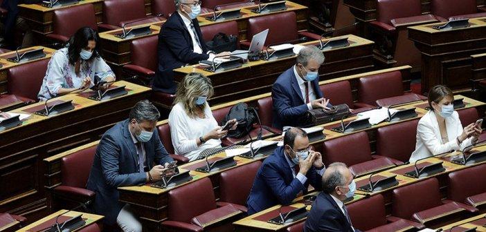 Ιστορίες με μάσκες στη Βουλή (Δείτε φωτογραφίες)