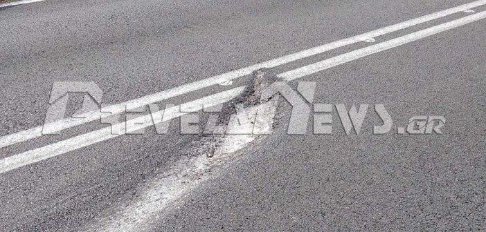 Άκτιο: Κίνδυνος για τους οδηγούς η φθορά στο οδόστρωμα (ΦΩΤΟ)