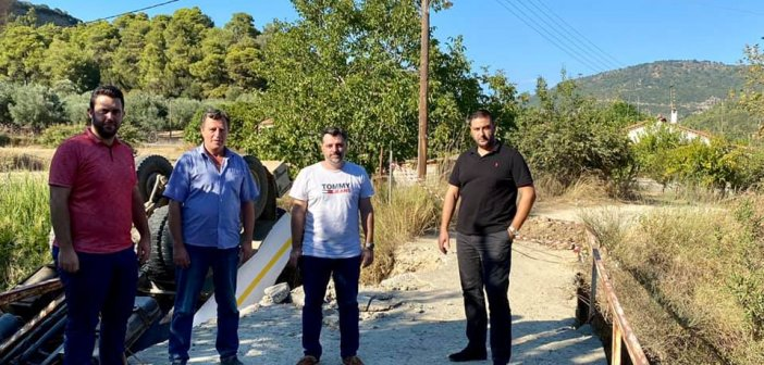 Στόχος η άμεση λύση για το Γεφυράκι στο Παραδείσι – Επίσκεψη Μαυρομάτη – Σκορδόπουλου