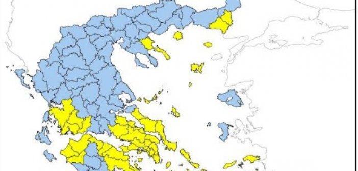 Παραμένει υψηλός ο κίνδυνος πυρκαγιάς στην Δυτική Ελλάδα αύριο Τετάρτη