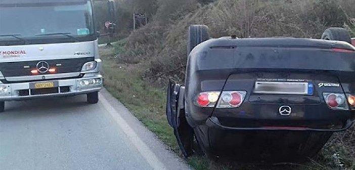 Ντελαπάρισε αυτοκίνητο στην Αβόρανη (ΔΕΙΤΕ ΦΩΤΟ)