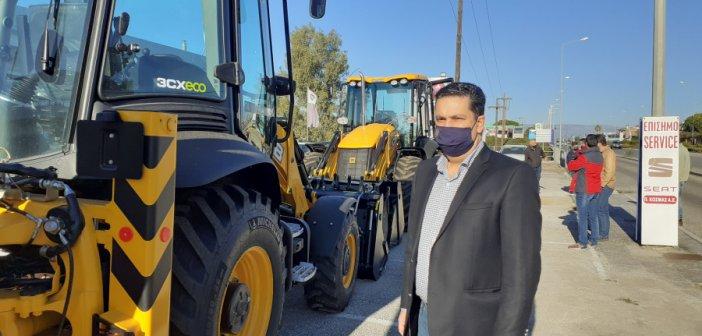 Δυο νέα σκαπτικά μηχανήματα στο Δήμο Αγρινίου