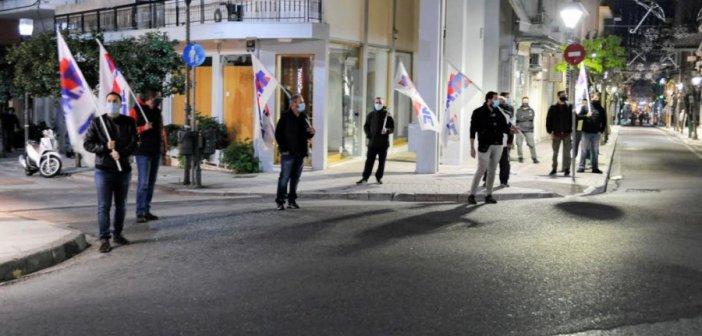 Αγρίνιο – ΠΑΜΕ: Εκδήλωση για το Πολυτεχνείο με αποστάσεις και υπό το «βλέμμα» της Αστυνομίας (ΔΕΙΤΕ ΦΩΤΟ)