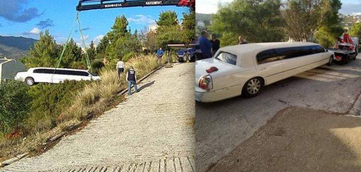 Απίστευτο ατύχημα στη Πεντέλη: Λιμουζίνα έφυγε στο γκρεμό