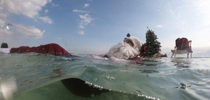 Πρέβεζα: Ο Άγιος Βασίλης έφτασε από την παραλία (ΦΩΤΟ)