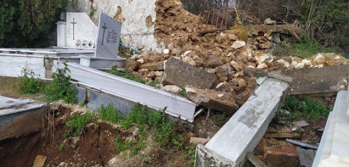 Εικόνες ντροπής και ασέβειας στο κοιμητήριο της Κατούνας (ΦΩΤΟ)