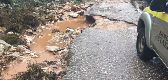 Μεγάλες καταστροφές από την κακοκαιρία στον Δήμο Ξηρομέρου (ΦΩΤΟ)
