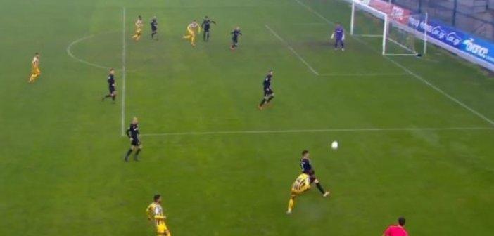 """Παναιτωλικός-ΟΦΗ 2-1: """"Γύρισε"""" το ματς- Εκπληκτικό γκολ από τον Μανθάτη"""