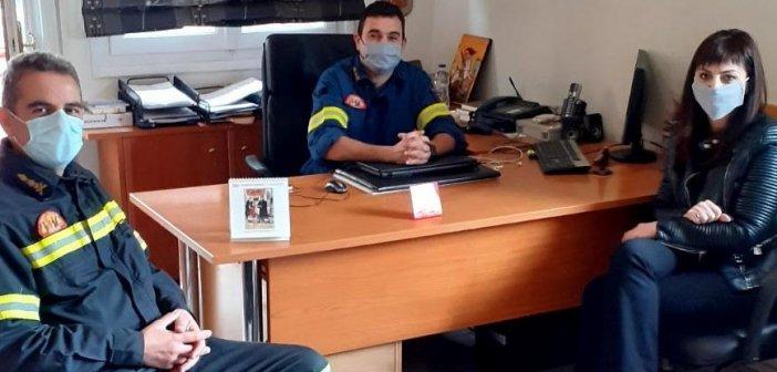 Επαφές με εκπροσώπους των Σωμάτων Ασφαλείας ξεκίνησε η Βοηθός Περιφερειάρχη Αγγελική Χαλιμούδρα