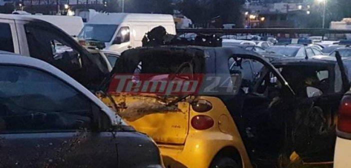 Πάτρα: Καταδρομική επίθεση τα ξημερώματα στο πάρκινγκ της Αστυνομίας – Πέταξαν 20 μολότοφ- ΦΩΤΟ