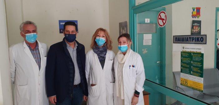 Επίσκεψη του Γ. Παπαναστασίου στο Κέντρο Υγείας Αγρινίου
