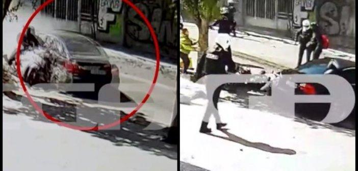 Καταδίωξη στη Λιοσίων: Η στιγμή που η κλεμμένη BMW παρασύρει δύο μοτοσικλετιστές (vid)