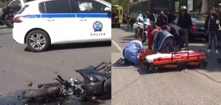 Σοβαρές καταγγελίες για το τροχαίο έξω από τη Βουλή με θύμα μοτοσικλετιστή (βίντεο)