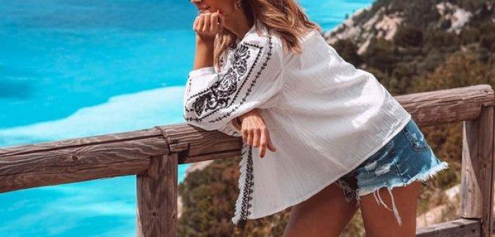 Έλλη Κοκκίνου: Εκθειάζει την Λευκάδα στα προσωπικά της socila media