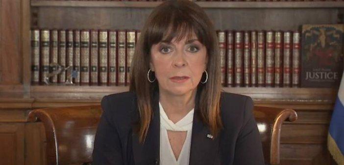 Επίτιμη Δημότισσα του Αγρινίου η Πρόεδρος της Δημοκρατίας Κατερίνα Σακελλαροπούλου
