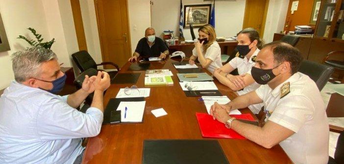 Η αποκατάσταση των κρηπιδωμάτων του δυτικού προβλήτα Αντιρρίου στο επίκεντρο συνάντησης