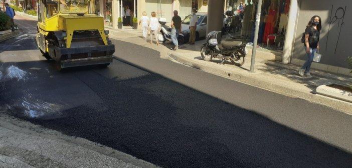 Αγρίνιο: Εργασίες ασφαλτόστρωσης σε Μπαϊμπά και Σιαδήμα (εικόνες)