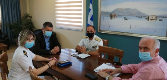 Μεσολόγγι: Συνάντηση δημάρχου με τον περιφερειάρχη του Λιμενικού Σώματος και τη νέα λιμενάρχη