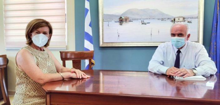 Συνάντηση της αναπληρώτριας διοικήτριας του Νοσοκομείου με το δήμαρχο Μεσολογγίου